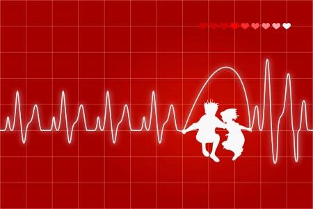 Heart beat monitor Vector