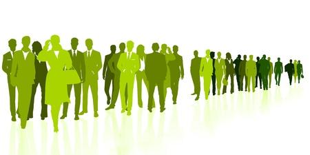 Green business Stock Vector - 17093594