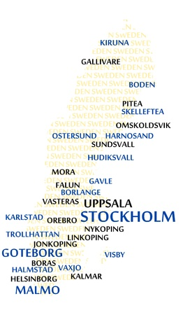 made in finland: FINLAND map made from cities with the country name as background word cloud