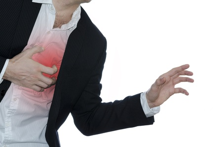 Man asking for help while having a heart attack Stock Photo - 17282119