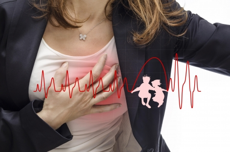 lifestyle disease: Woman suffering from heart games