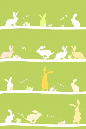 easter nest: Easter bunny  illustration Illustration