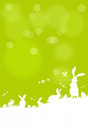 Easter bunny searching for Easter eggs Stock Vector - 17315764