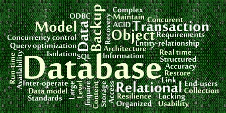 Database word cloud with data background Stock Vector - 17343539