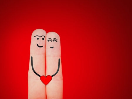 A happy and smiling couple in love Stock Photo - 17570413