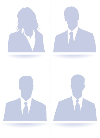 A collection set of default avatar profile picture Stock Vector - 17799732