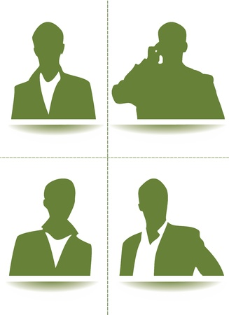 A collection set of green avatar profile picture Stock Vector - 17799731