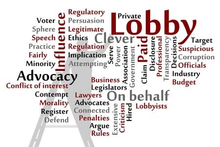 Lobby parole nube illustrazione