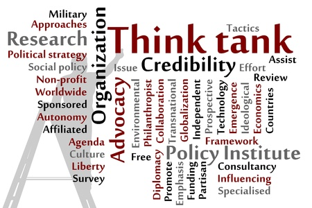 transnational: Think tank words cloud illustration Illustration