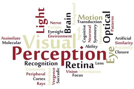 perceptie: Visual Perception woordwolk Stock Illustratie