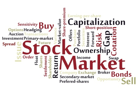 Stock Market word cloud Stock Vector - 18075535