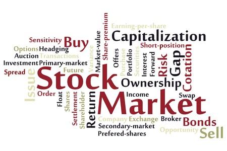 market place: Stock Market word cloud Illustration
