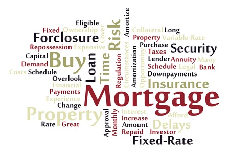 Mortgage word cloud Vector