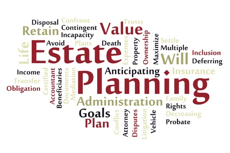 Estate planning word cloud Vector