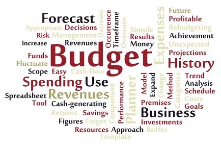 Budget word cloud Stock Vector - 18075549