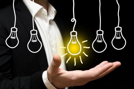 ideas brillantes: Idea ilustraci�n del concepto
