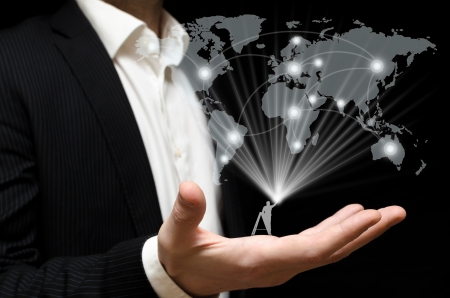 Building a global business network Stock Photo - 18230054