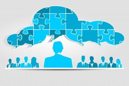 Équipe commerciale de résolution de problèmes professionnels
