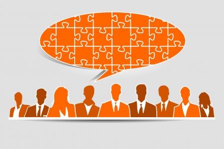 Quiz speech bubble teamwork concept Stock Vector - 18595324