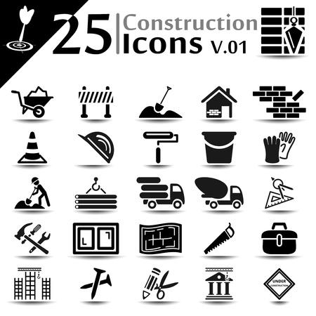 Iconos de la construcción establecidas, serie básica