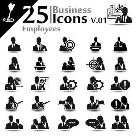 speaker icon: Business icons set,employees basic series Illustration