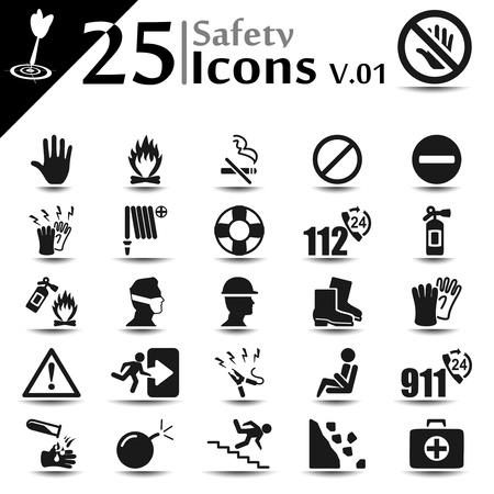 Safety icon set, basic series