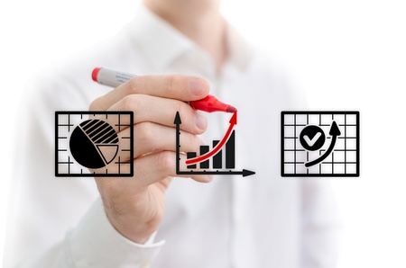 data sheet: Man performing a business analysis
