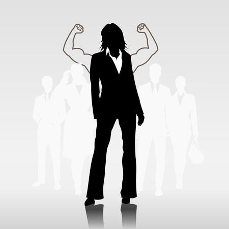 teamleider: Succesvolle vrouw teamleider voor ondernemers