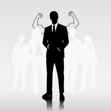teamleider: Succesvolle man teamleider voor ondernemers