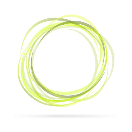 orbital: Ecology green rings isolated on white background