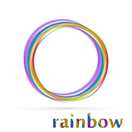 typhoon: Vortex rainbow isolated on white background