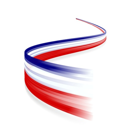Abstract waving English and French flag Vector