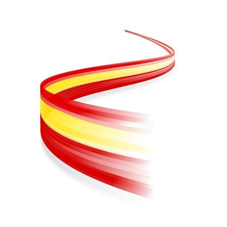 spanish flag: Abstract Spanish waving flag isolated on white background