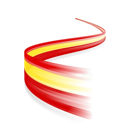 Estratto Spagnolo bandiera sventola isolato su sfondo bianco Archivio Fotografico - 21200432