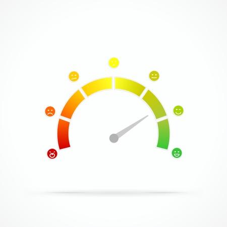 満足度メーターの抽象的なベクトルのロゴ