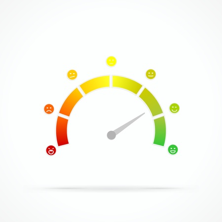 satisfaction: Satisfaction meter abstract vector logo