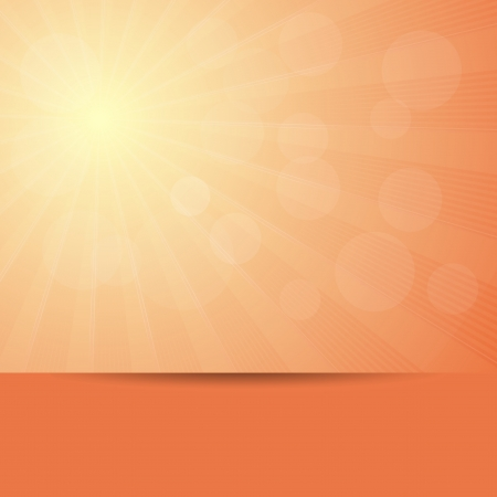 Vibrant hot summer background with sun lens flare  Vector