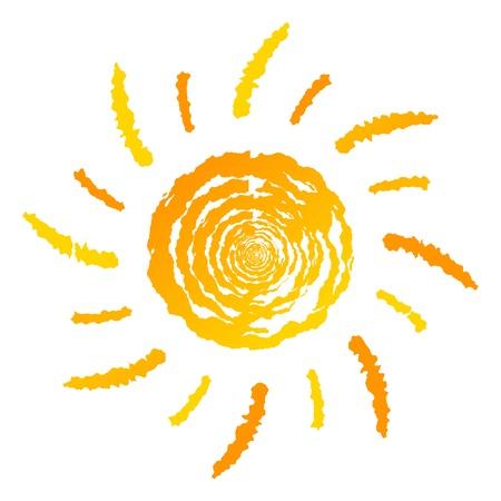 白い背景で隔離の Sun ロゴ
