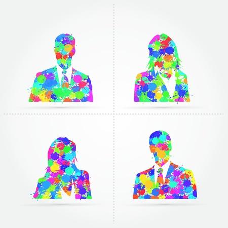 Default avatar colorful splash illustration Stock Vector - 21050978