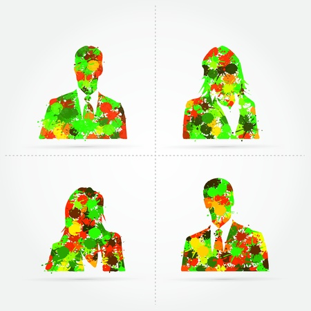 Default avatar colorful splash illustration Stock Vector - 21041717