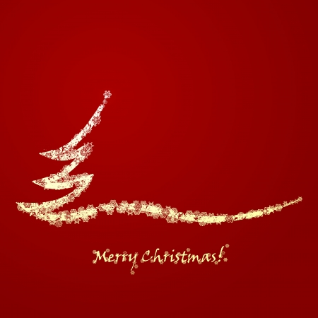 Merry Christmas card illustration Vector