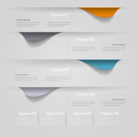 econimics: Four labels infographics  illustration