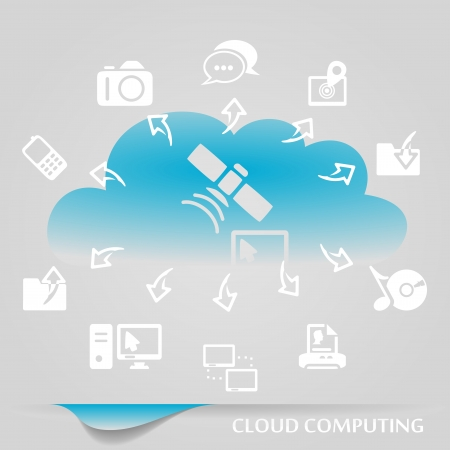 Cloud computing infographics illustration Vector