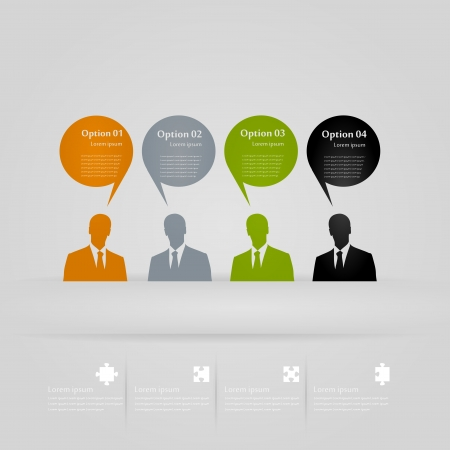 Four opinions infographics illustration Vector