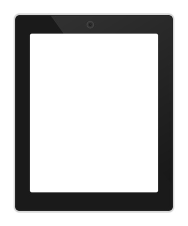 tabletpc: Business tablet portrait orientation with blank screen illustration Illustration