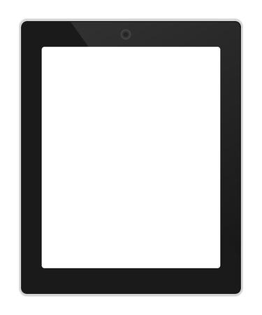 digitized: Negocios tablet orientaci�n vertical con la ilustraci�n de la pantalla en blanco