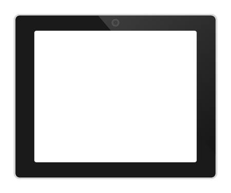 tabletpc: Business tablet landscape orientation with blank screen vector illustration