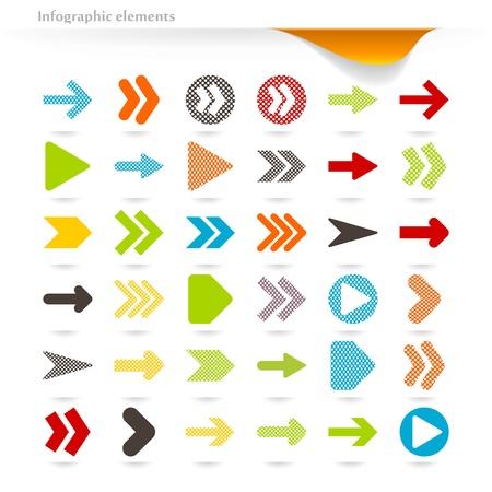벡터 inforgaphic 화살표의 컬렉션