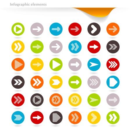ベクトル inforgaphic 矢印のコレクション