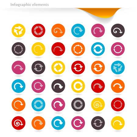 Collection of vector inforgaphic arrows Stock Vector - 21176566